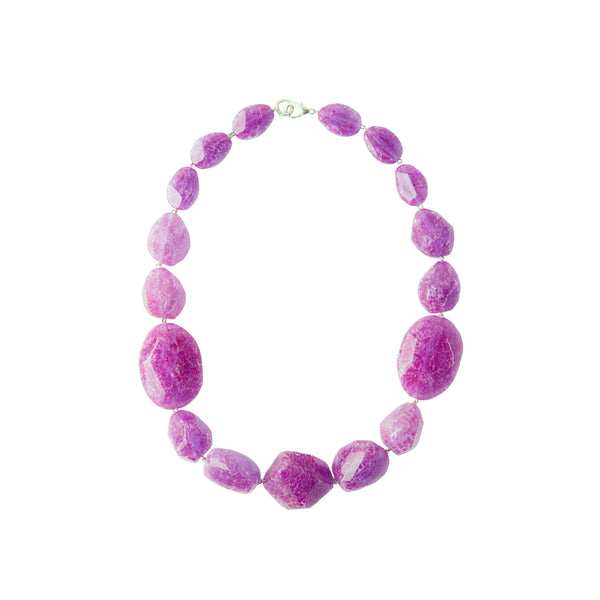 Purple resin statement necklace