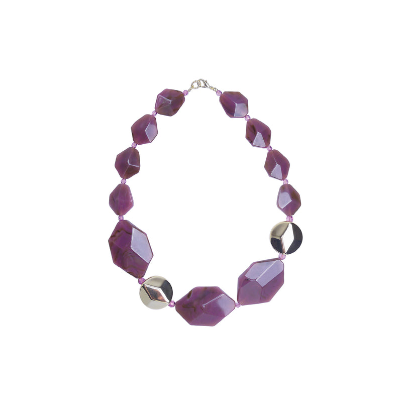 Purple Gold statement necklace
