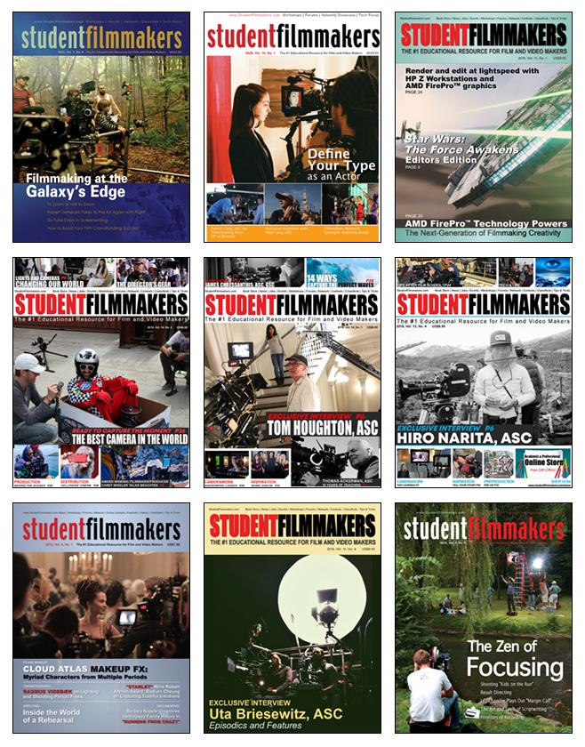 StudentFilmmakers Magazine Digital Collection: 80 Digital Editions - STUDENTFILMMAKERS.COM STORE