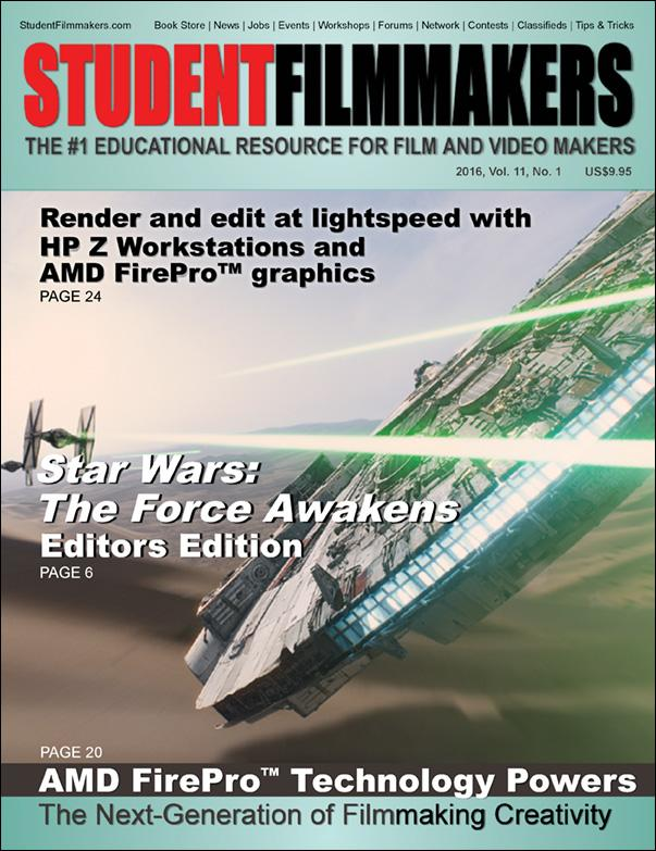 Back Issue | Digital Edition: StudentFilmmakers Magazine, 2016, Vol. 11, No. 1 - STUDENTFILMMAKERS.COM STORE