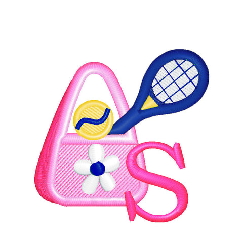 EM-M8590 Tennis Bag Monogram Embroidery