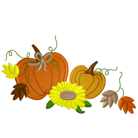 EM-P7112 Fall Pumpkins Embroidery
