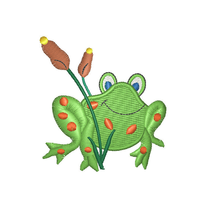 EM-P8056 Frog Embroidery