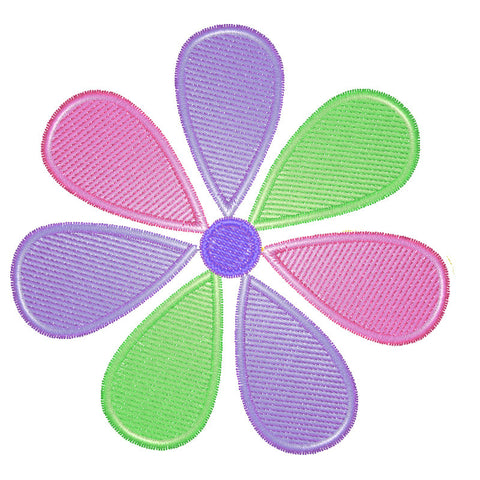 EM-P8568-2  Graphic Flower (2 Sizes) Embroidery