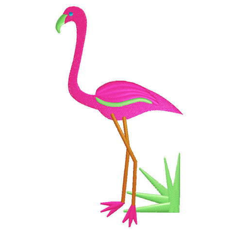 EM-P8609-2  Flamingo (2 sizes) Embroidery