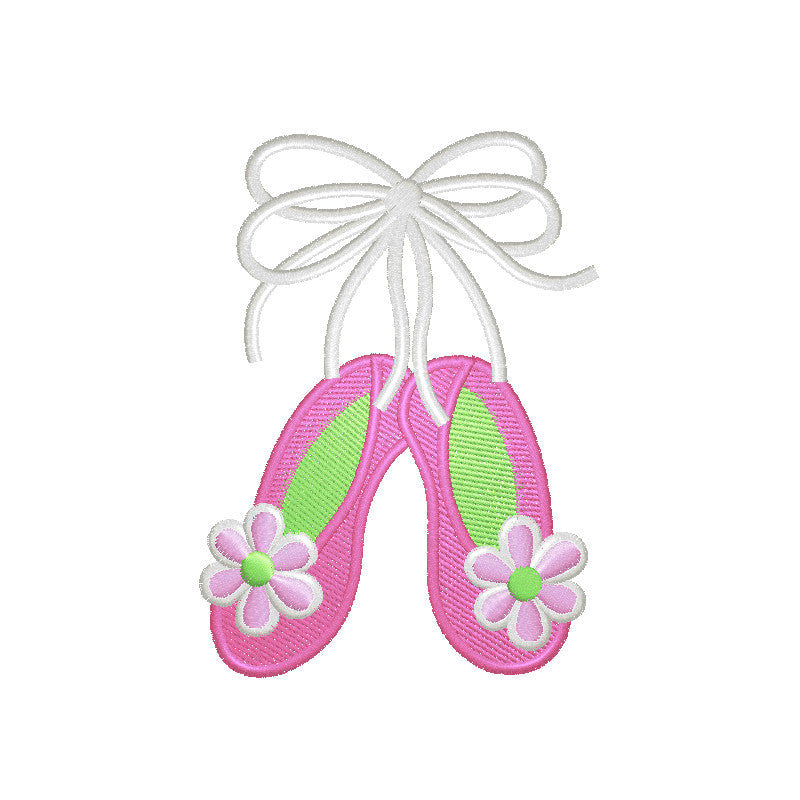 EM-P8766-2 Ballet Shoes (2 sizes) Embroidery
