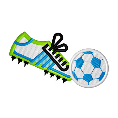 EM-P9057 Soccer Shoe and Ball Embroidery