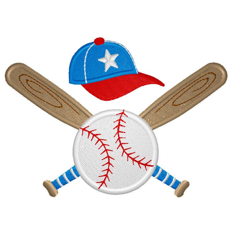 EM-P9277 Baseball Theme Embroidery