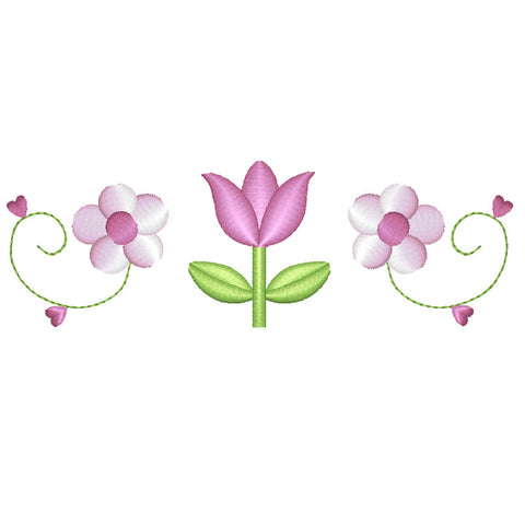 EM-PL1031 Tulip and Flowers Embroidery File