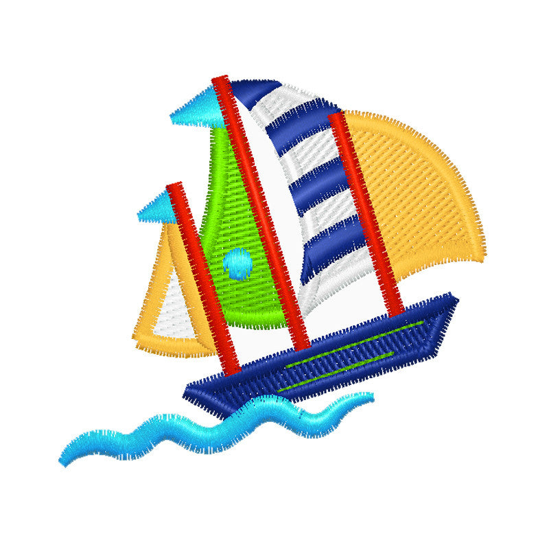 EM-P4860 Sailboat Embroidery