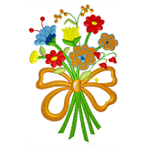 EM-P5197 Wildflower Bouquet Embroidery