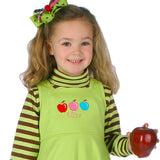 EM-M9407 Apple Embroidery w/Free Curlz Font