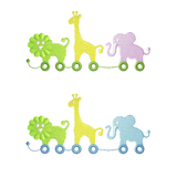EM-MP9379 Boy & Girl Baby Zoo Pull Toys w/Free Font
