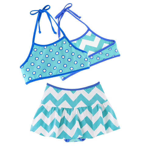 PA-S1370 Emma Swim Reversible Halter Top & Skirted Mini Set Pattern