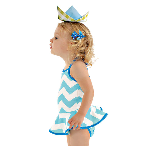 aPA-S1362 Ellie Swim Ruffle Top Set Pattern