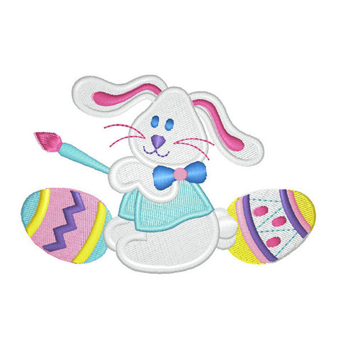 EM-P7420 Easter Bunny w/ Eggs Embroidery