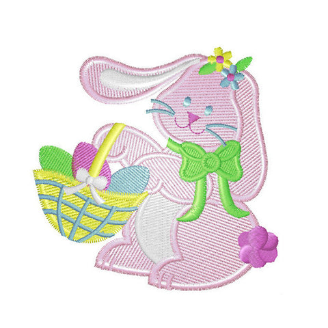 EM-P3476 Easter Bunny w/ Basket Embroidery