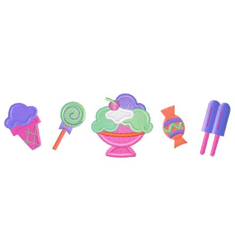 EM-P5522 Ice Cream Treat Embroidery