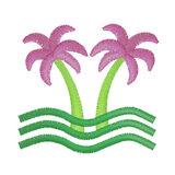 EM-P8648 Palm Tree Embroidery