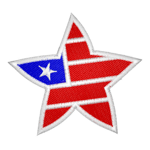 EM-P9253 Star Flag Embroidery
