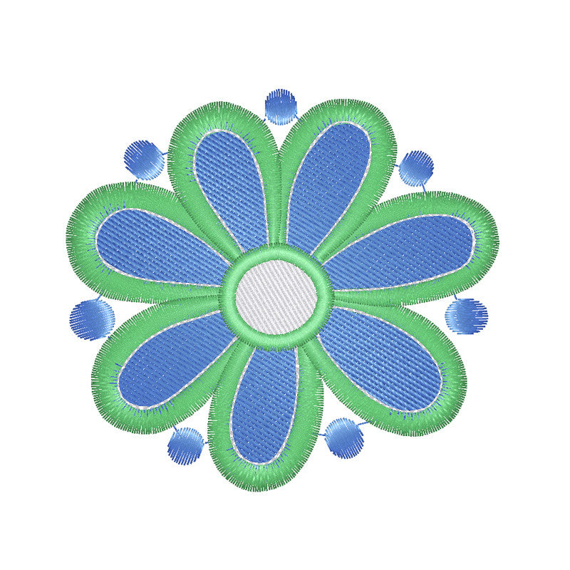 EM-P9461 Graphic Flower Embroidery