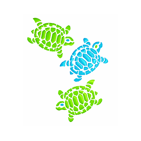 EM-P9010 Sea Turtles Embroidery