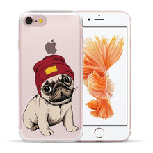 Load image into Gallery viewer, Soft Silicone Pug iPhone Case