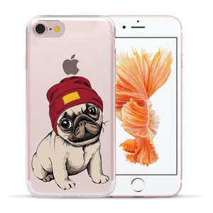 Soft Silicone Pug iPhone Case
