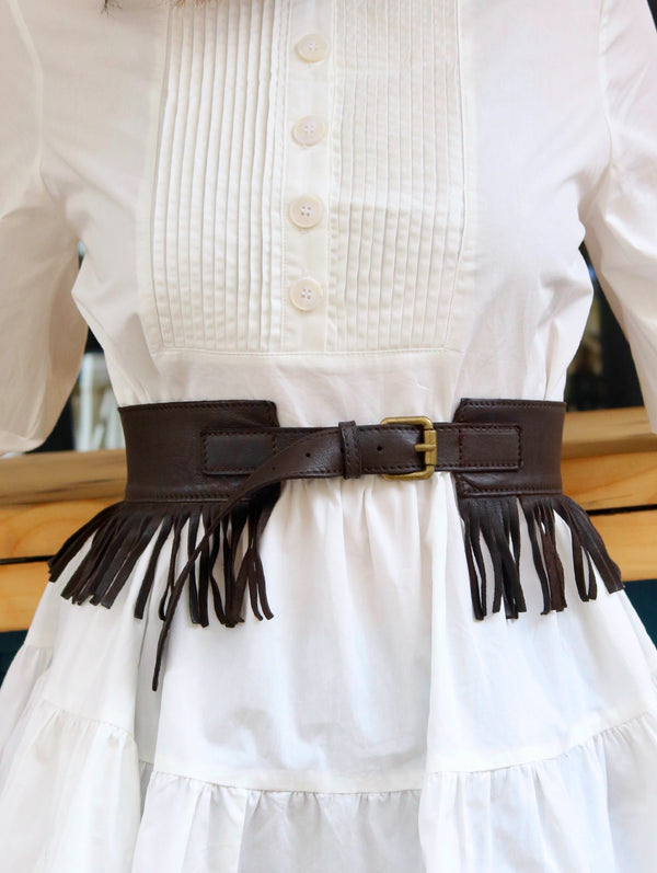Fringy Leather Belt