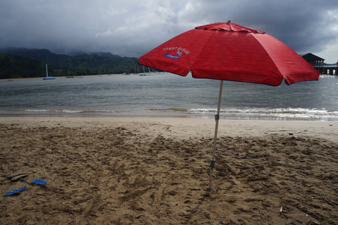 beach umbrella kauai