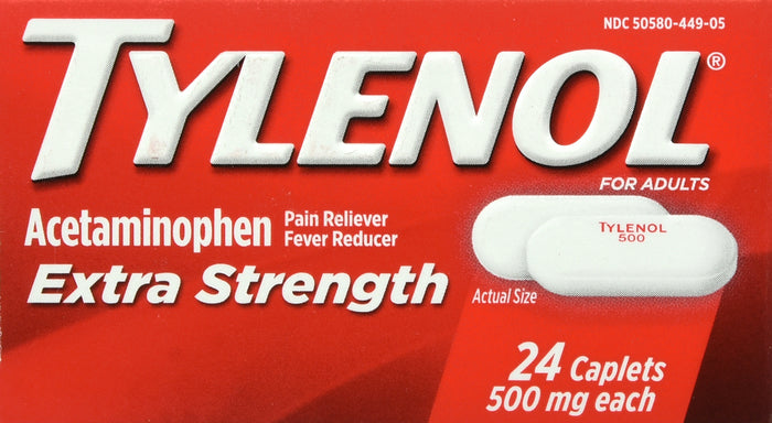 Tylenol Extra Strength Caplets with 500 mg Acetaminophen, 24 ct