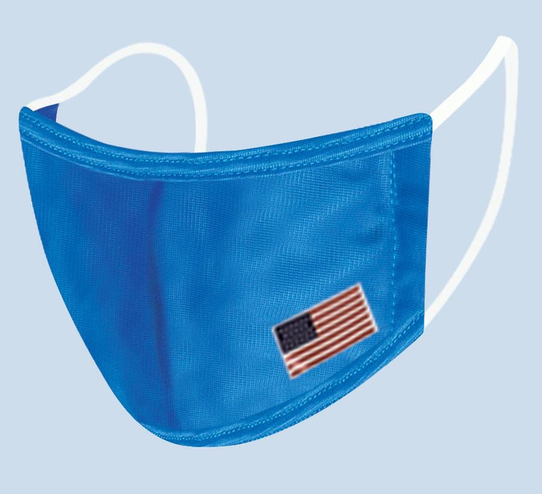 Reusable 2 Layer Cloth Mask with American Flag