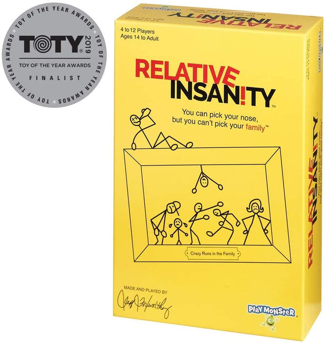 Relative Insanity Party Game About Crazy Relatives - Made & played by Comedian Jeff Foxworthy!