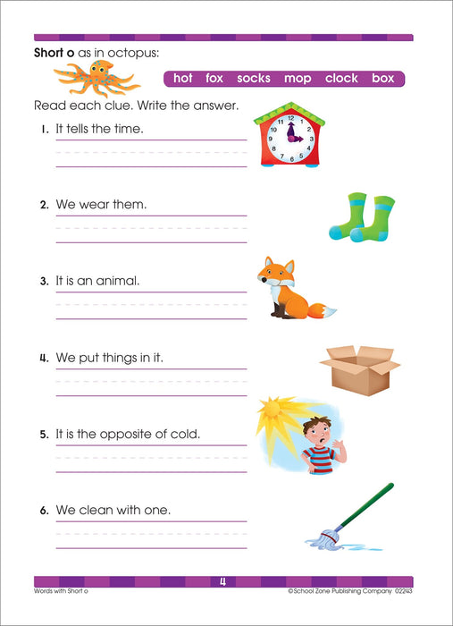 School Zone - Beginning Reading Workbook