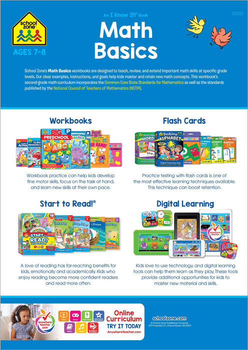 School Zone - Math Basics 2 Workbook