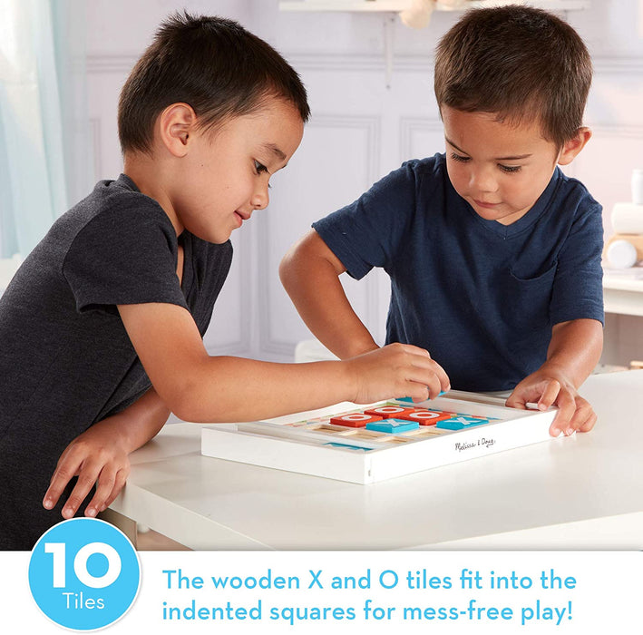 Melissa & Doug Wooden Tic-Tac-Toe Board Game