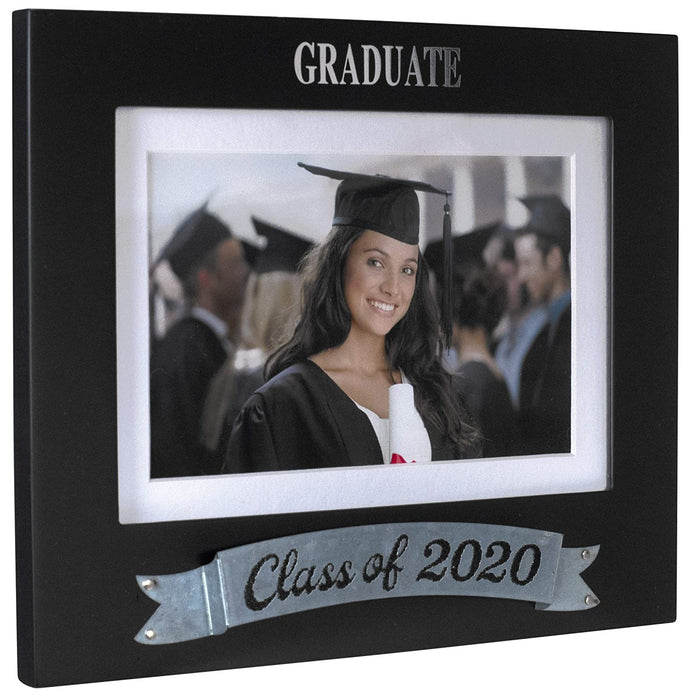 Malden International Designs Malden Graduate Class of 2020 Photo Frame, Black