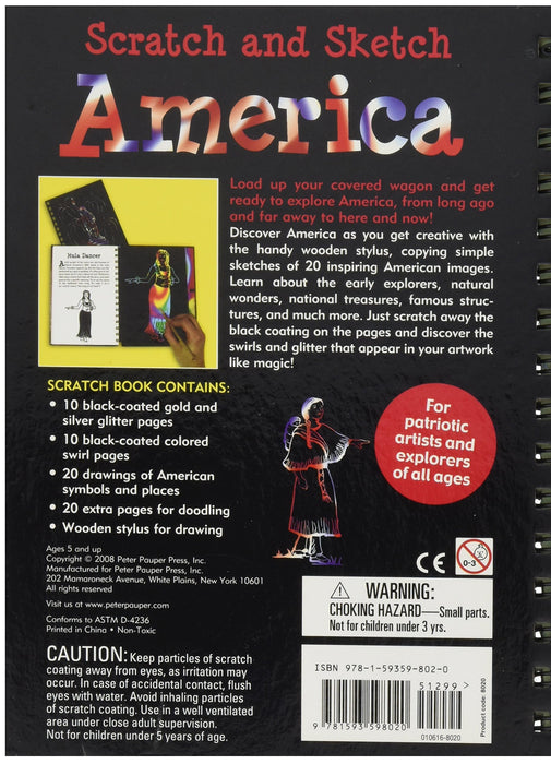 Scratch and Sketch: America  An Art Activity book
