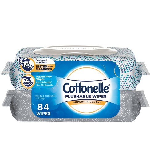 Cottonelle Clean Flushable Wipes- 84 Wipes
