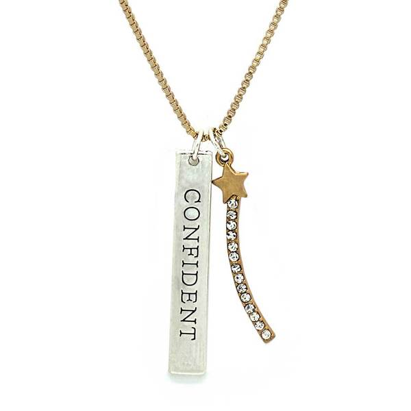 TOKENS NECKLACE, CONFIDENT WITH STAR