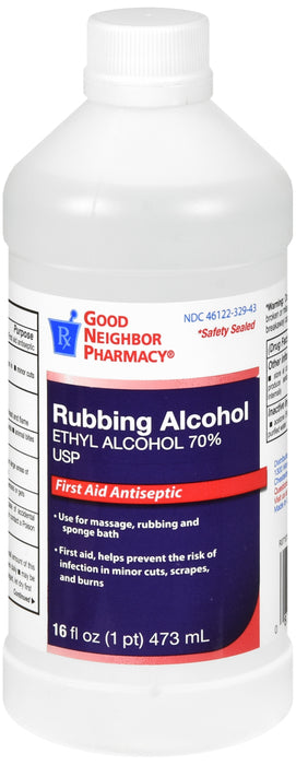 Rubbing Alcohol- Ethyl Alcohol 70% - 16 fl oz.