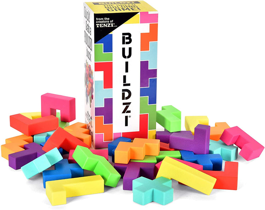 BUILDZI by TENZI - The Fast Stacking Building Block Game for The Whole Family - 2 to 4 Players Ages 6 to 96