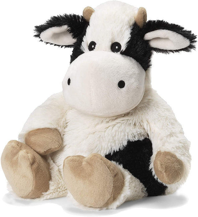 Warmies Microwavable French Lavender Scented Plush, Black & White Cow Warmies