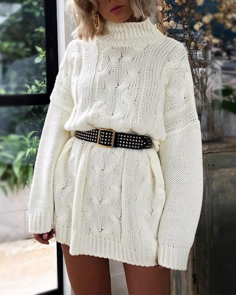 Turtle Neck Loose Knitted Sweater