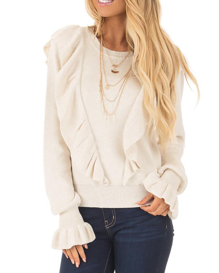 Fashion Frilled Casual Blouse