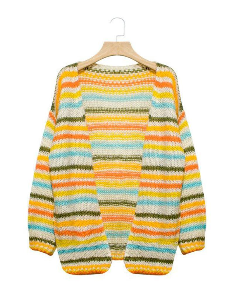 MultiStyle Open Front Cardigan