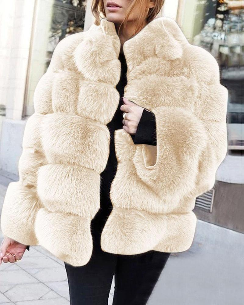 Thicken Faux Fox Fur Coat