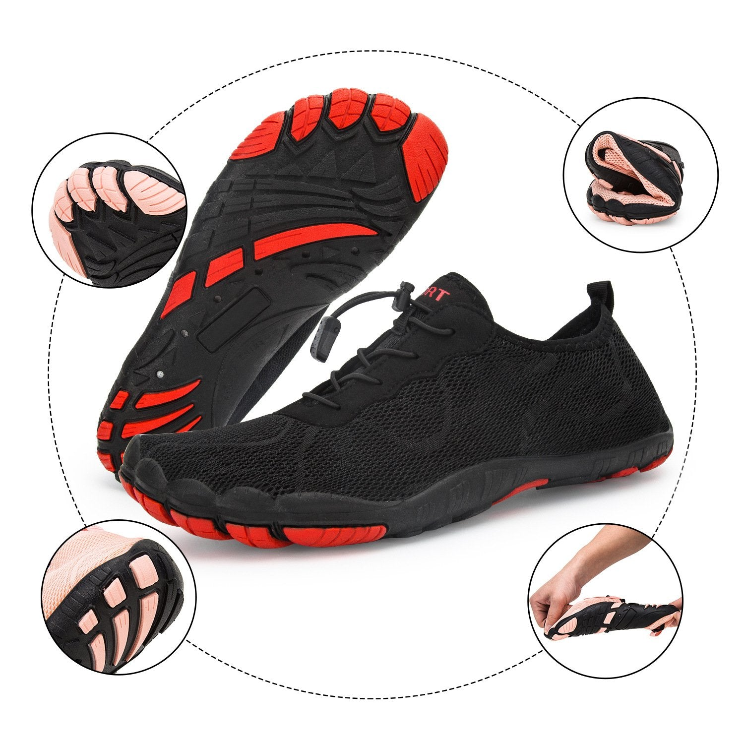 Man's beach diving five-finger shoes brook swimming shoes