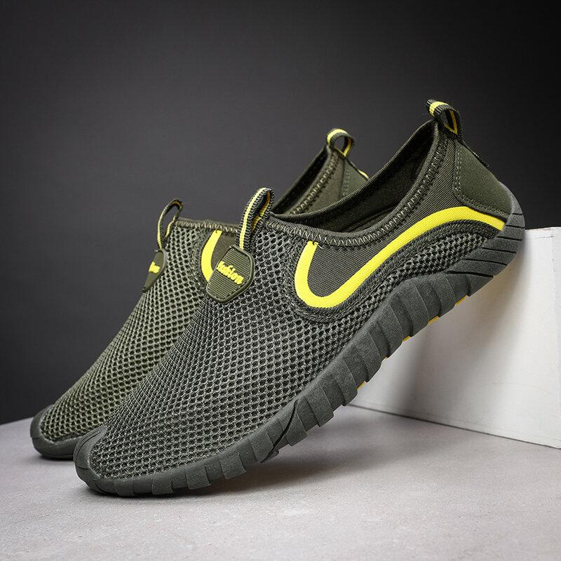 Men's Mesh Breathable Non Slip Outdoor Slip On Casual Sneakers