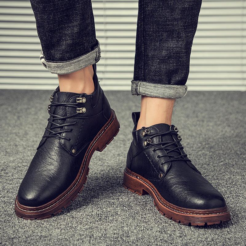 Outlet26 Liam Leather Boots Black